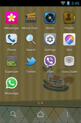 Wooden Horse android theme application menu