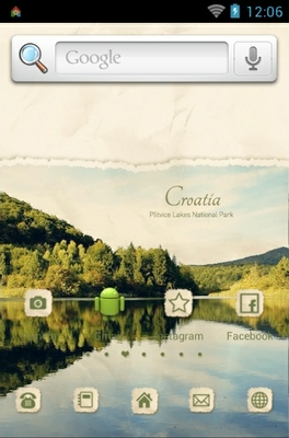 Croatia android theme home screen