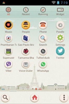 Paris Macaron android theme application menu
