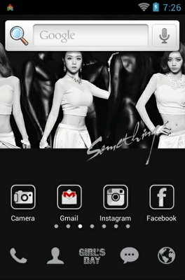Girls Day android theme home screen