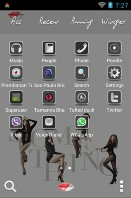 Girls Day android theme application menu
