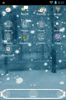 Silent android theme application menu