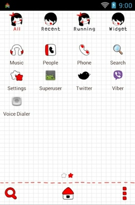 Couple android theme application menu