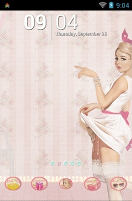 Pin Up Girl android theme