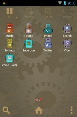 Vintage Robot android theme application menu