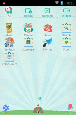 Our Village Circus android theme application menu