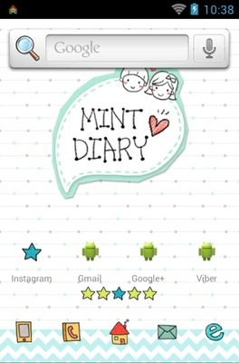Mintdiary android theme home screen