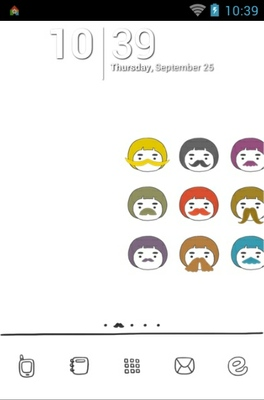 android theme 'Mustache'