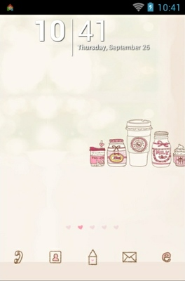 android theme 'Sweet Pink'