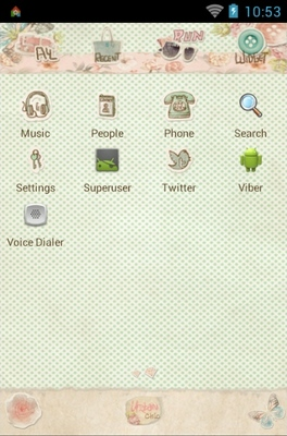 Collage android theme application menu