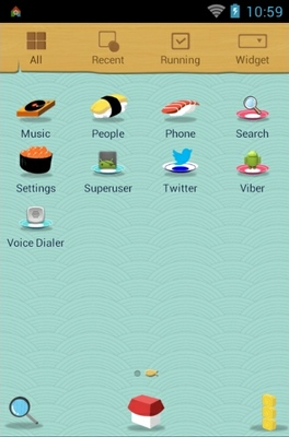 Hi Mogu Mogu android theme application menu