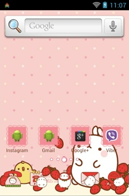 Molang android theme home screen