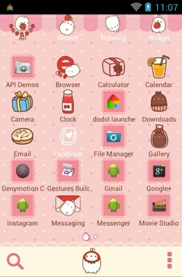 Molang android theme application menu