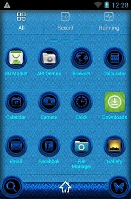 Jasmine android theme application menu