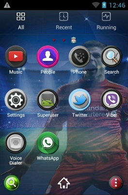 Steven Garrerd android theme application menu