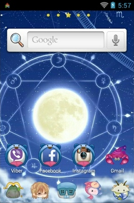 Signs Of The Zodiac android theme home screen