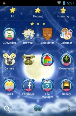 Signs Of The Zodiac android theme application menu