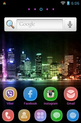 Citylights android theme home screen