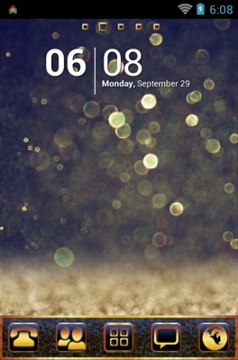 android theme 'Golden Star Dust'