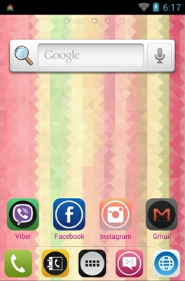 Light Stripes android theme home screen