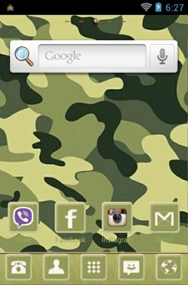 Camuflage android theme home screen