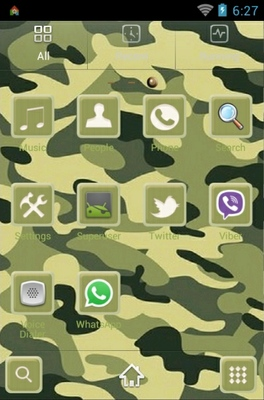 Camuflage android theme application menu