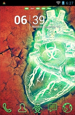android theme 'Biohazard Heart'