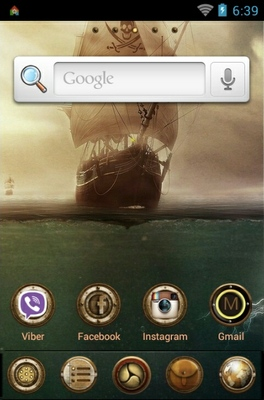Pirates android theme home screen