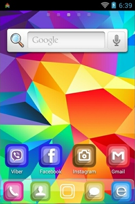 Geometrical Abstract android theme home screen
