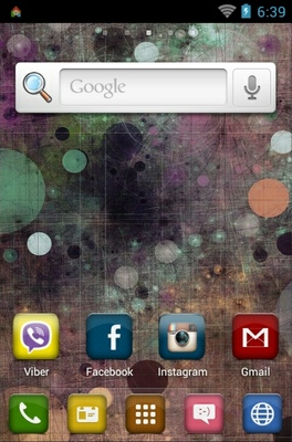 Dots Circle Colorful android theme home screen