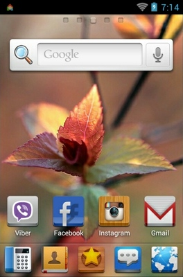 Spring android theme home screen