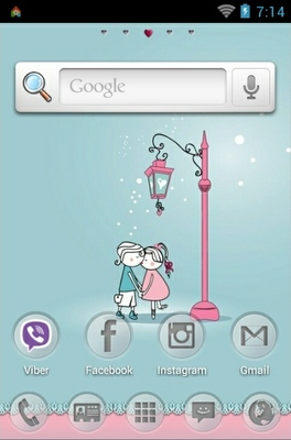 I Love You android theme home screen