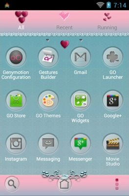 I Love You android theme application menu