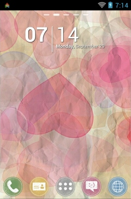 android theme 'Valentine Colorons'
