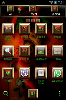 Magical Arriva android theme application menu