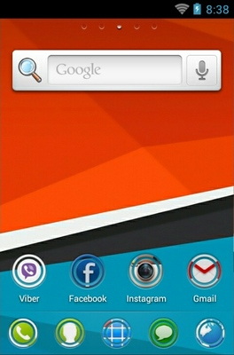 HTC Sensation android theme home screen