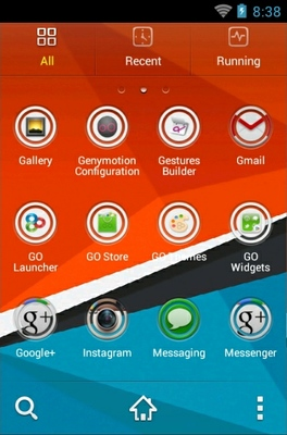 HTC Sensation android theme application menu