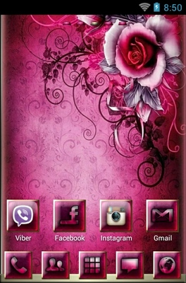 android theme 'Pink Rosee'