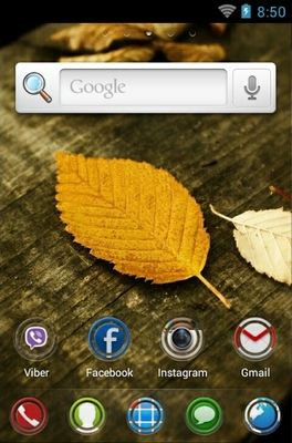 HD Leaves android theme home screen