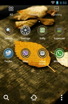 HD Leaves android theme application menu