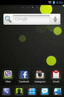 VBubbles HD android theme home screen