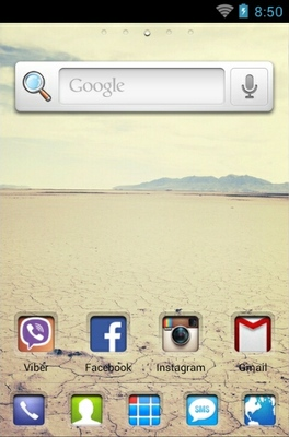 Clear Way HD android theme home screen