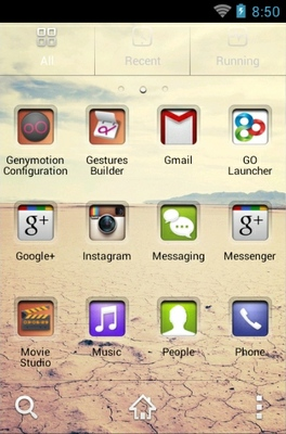 Clear Way HD android theme application menu