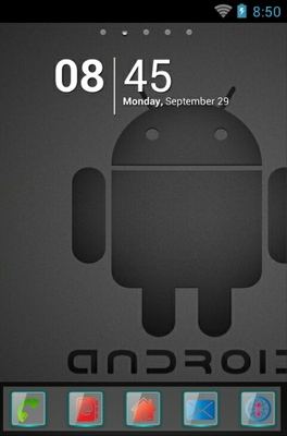 android theme 'Android Black Logo'