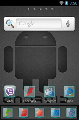 Android Black Logo android theme home screen