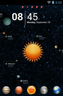 android theme 'Solar System'