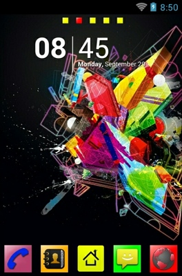 Geometrical Splash android theme