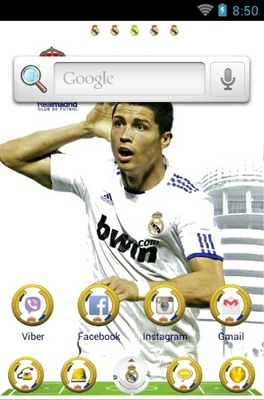Real Madrid android theme home screen