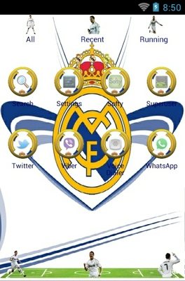 Real Madrid android theme application menu