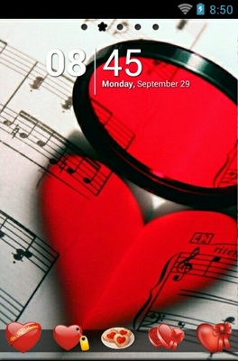 android theme 'Touch My Heart'